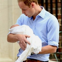 William con in braccio George Alexander Louis