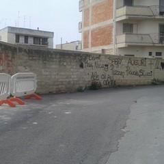 Muro crollato in via Giotto