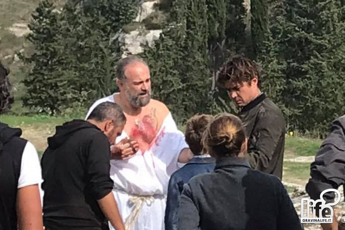 """Riccardo Scamarcio a Gravina per girare film """"Il ladro di giorni"""""""