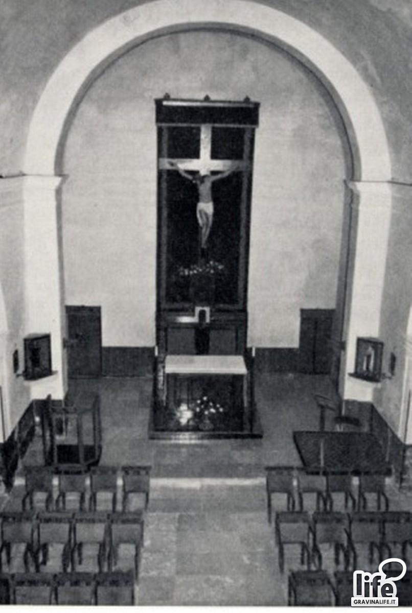 La navata centrale della chiesa di S felice in una foto dellepoca