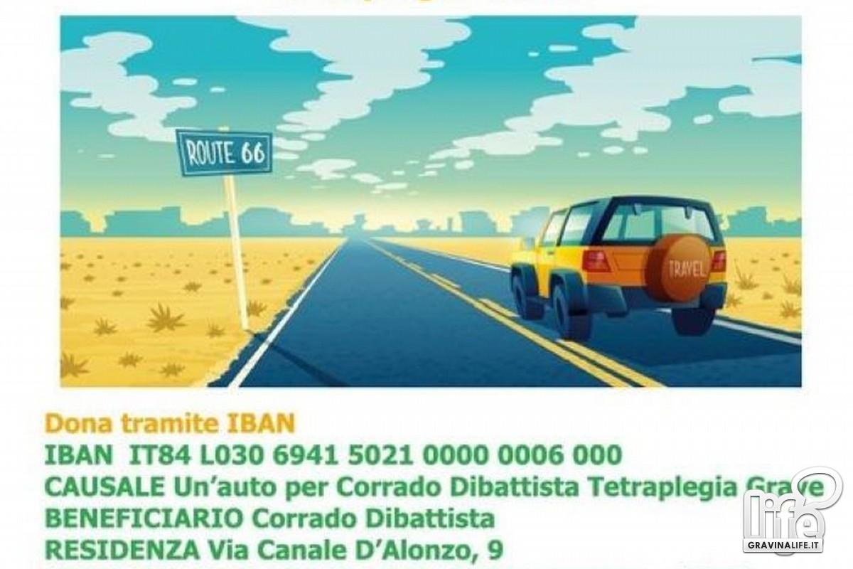 auto per Corrado Dibattista- locandina