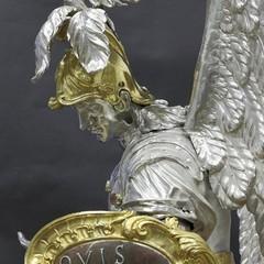 Andrea De Blasio Statua in argento San Michele Arcangelo Bitetto FOTO