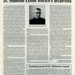Passeggiando con la storia- Don Simeone Leone