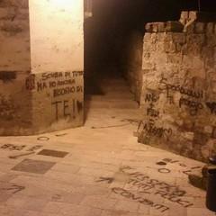 vandali nel centro storico