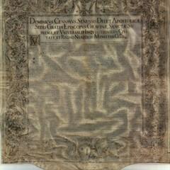 Foto Bolla episcopale di Mons Cennini istitutiva del monastero di Santa Maria in Archivio Diocesano Gravina