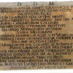 Iscrizione allinterno della sagrestia della Basilica Cattedrale