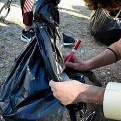 pulizia della città dei volontari