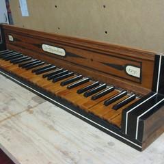 Tastiera restaurata Organo chiesa del Purgatorio