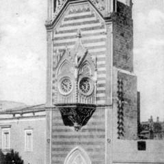 Torre orologio in una foto degli anni del secolo scorso Foto