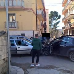 Scontro tra due auto in via Lecce