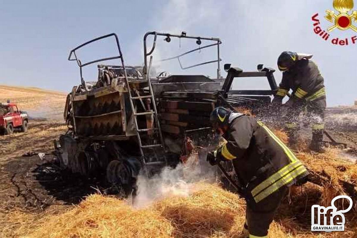 Incendio in campagna