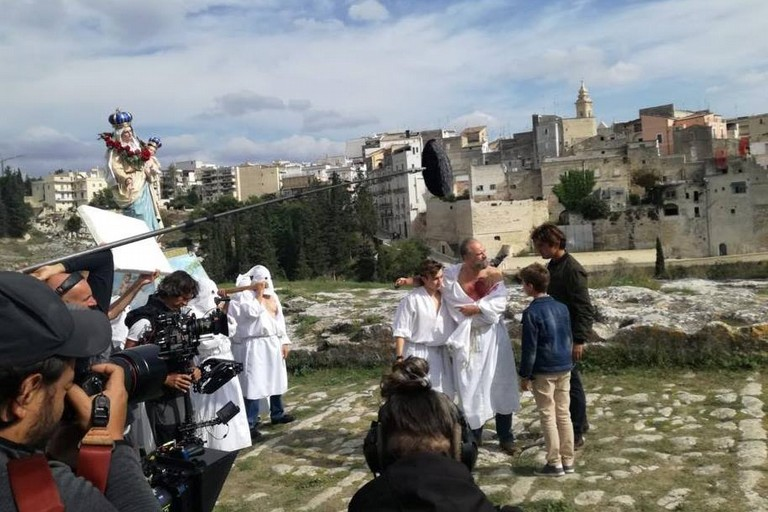 Riccardo Scamarcio gira a Gravina film