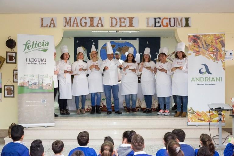 Tappa a Foggia per il progetto di educazione alimentare di Andriani