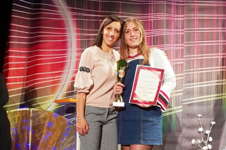 Arianna Argentiere, 1° premio in Romania