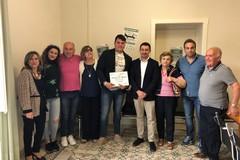 La Gravina dei record: il Sindaco riceve Vincenzo D'Agostino, campione in getto del peso
