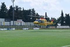 Lo stadio utilizzato per soccorso di emergenza
