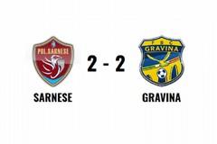Termina con un pareggio la sfida tra Polisportiva Sarnese 1926 e FBC Gravina (2-2)