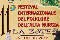 Al via l'XI edizione del Festival internazionale del folkore dell'alta Murgia