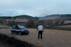 Incendio nelle vicinanze del bosco