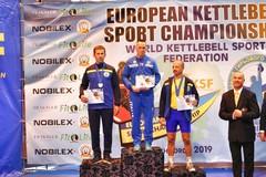Kettlebell, Jaques du Plessis oro agli europei