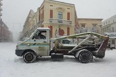 L'Alta Murgia sotto la neve, disagi alla viabilità