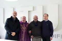La benedizione di Monsignor Giovanni Ricchiuti è scesa sui lavoratori dell'azienda U-TUB