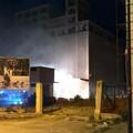 Incendio all'ex mulino di via Spinazzola