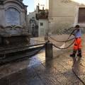 Interventi di lavaggio delle strade nel centro storico