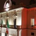Illuminazione tricolore al Palazzo di Città
