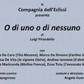 """""""O di uno o di nessuno"""" di Luigi Pirandello"""