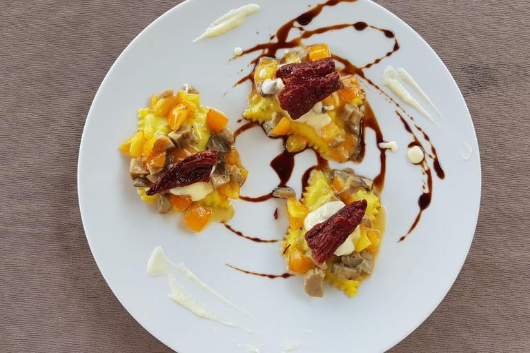 Raviolini del Pollino dello chef Vito Carbone - Foto Mazzotta