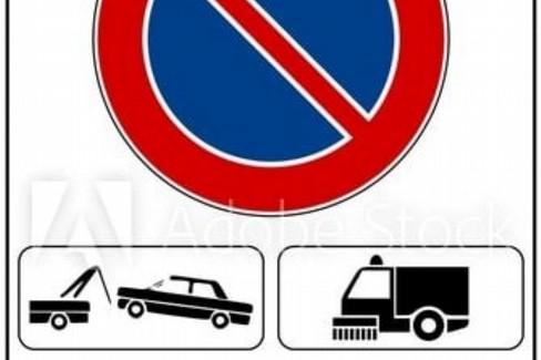 divieto di sosta per pulizia strade