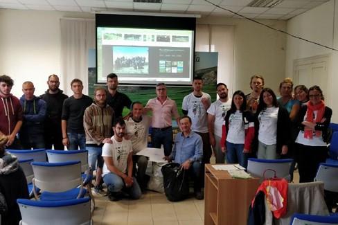 Gruppo Erasmus+ in visita alla sede del Parco Nazionale dell'Alta Murgia