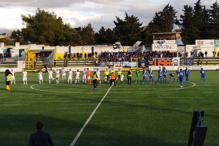 nella foto:Fbc nella gara contro la Fidelis Andria