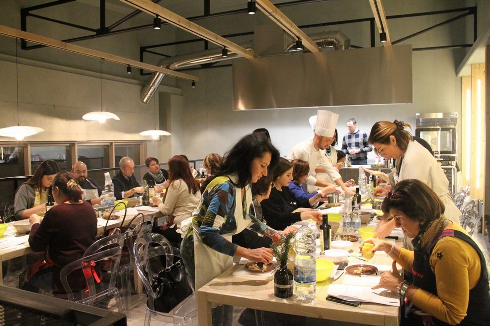 1° laboratorio di cucina al Frantoio Raguso