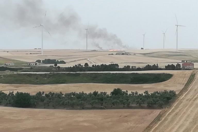 Incendio nelle campagne