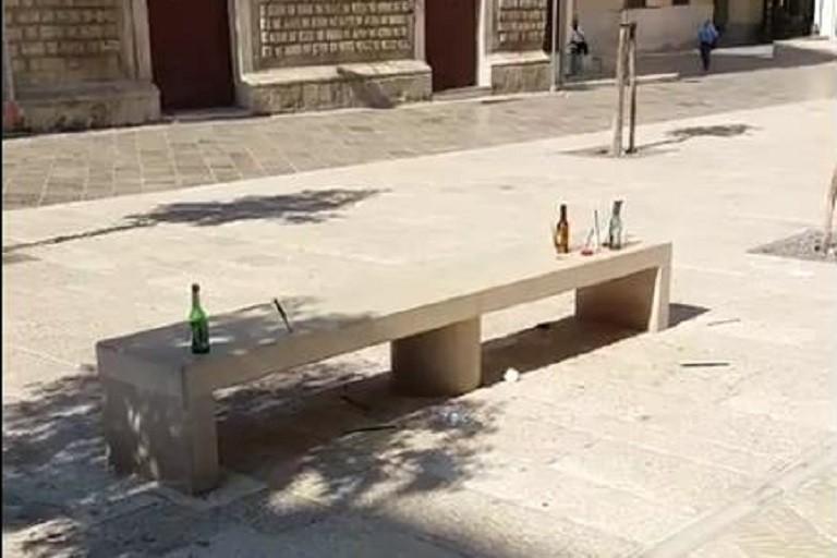 Degrado in piazza della Repubblica