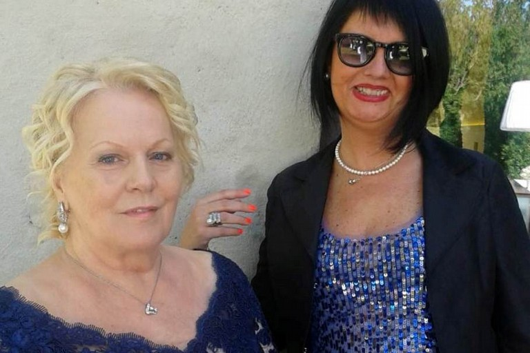 Katia Ricciarelli con Rita Evangelista