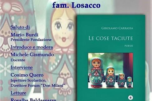Locandina presentazione libro Carrassa