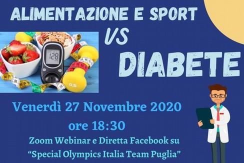 webiner Alimentazione e sport vs diabete