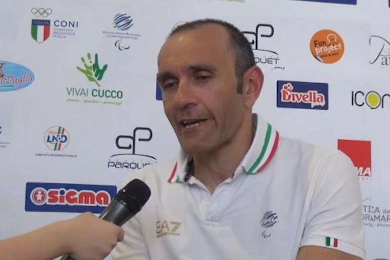 Nuotatore e paraciclista italiano Luca Mazzone