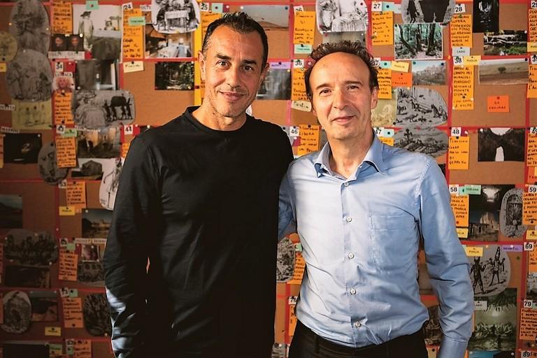 nella foto: Matteo Garrone e Roberto Benigni