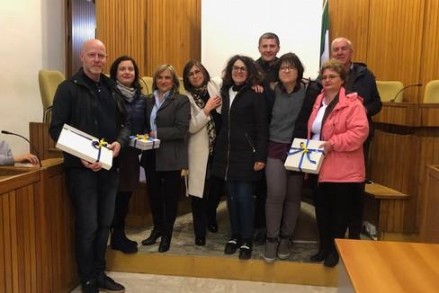 Delegazione di studenti Erasmus ricevuta in Comune