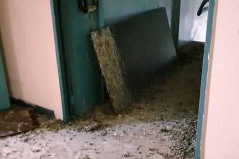 Ex ospedale in abbandono, immagine da un video di Mario Conca