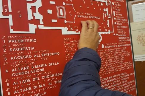 Ciechi e ipovedenti, inaugurata mappa tattile della Cattedrale