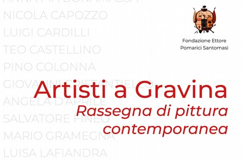 """Mostra di artisti di Gravina organizzata dalla Fondazione  """"Santomasi """" all'ex monastero di Santa Sofia"""
