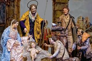 Il vescovo spiega il natale ai bambini