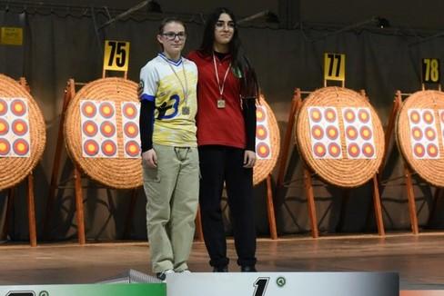 Valeria Zerni, premiazione campionati italiani tiro con l'arco