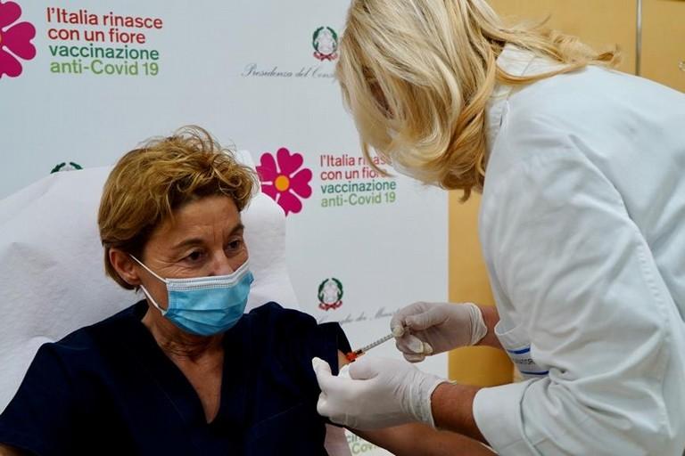 covid, Prima Vaccinata in Puglia