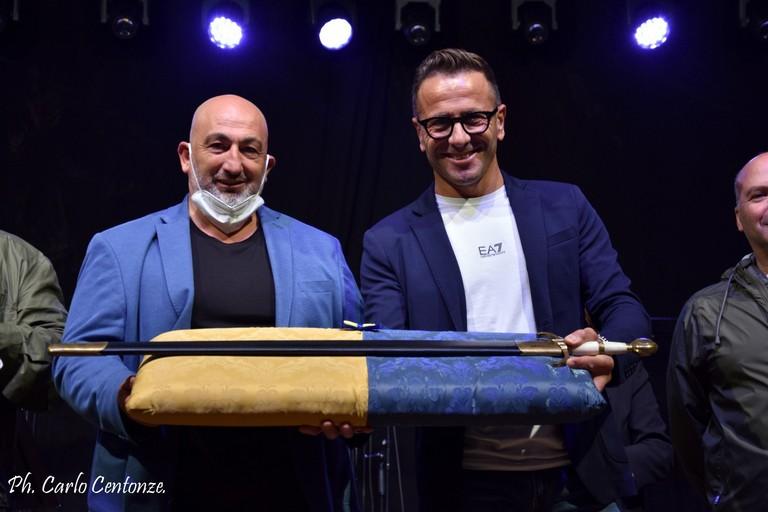 R. D'Introno e N. Palermo - spada s. Michele- foto C. Centonze
